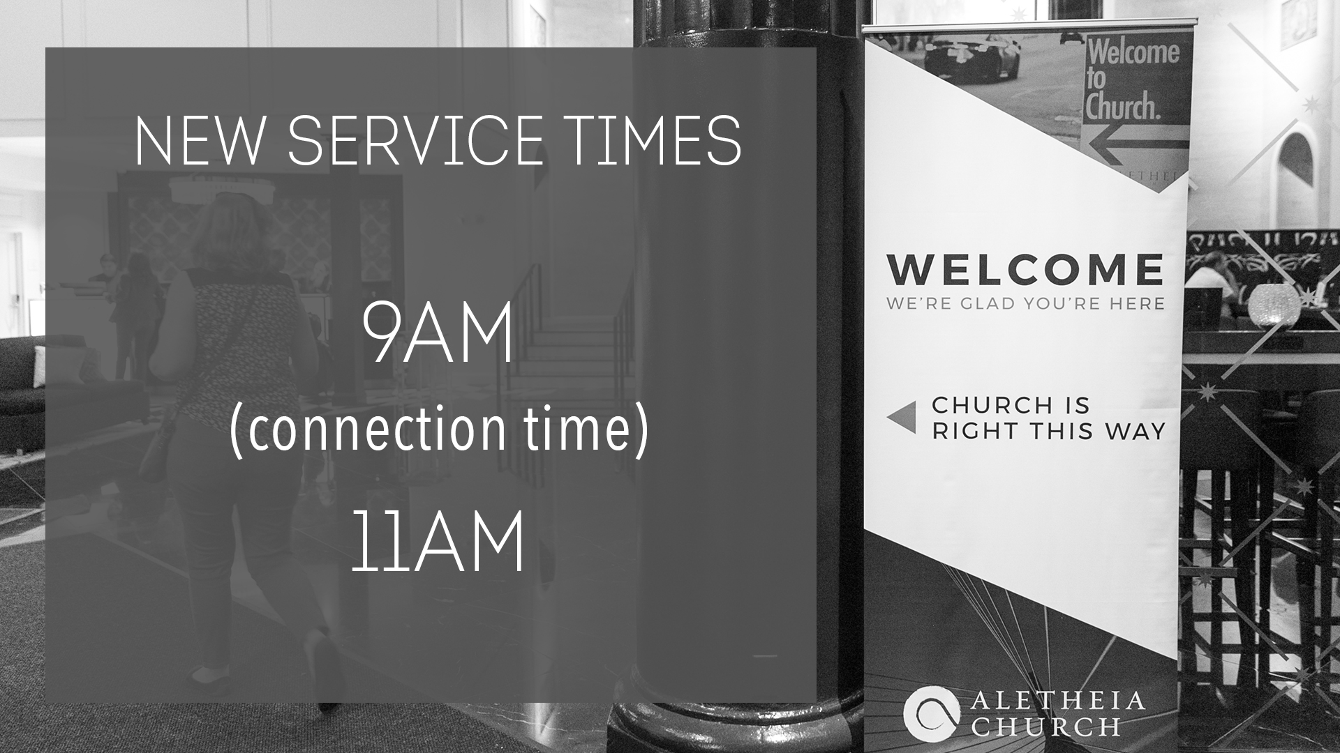 Our Service Times Are Changing